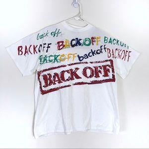 Vintage Back Off 90s Single Stitch T-Shirt